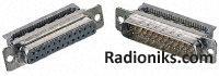 +15 way IDC class 2 metal shell D socket