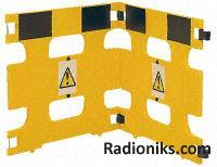Handi Gard(R) base weight barrier,Yellow