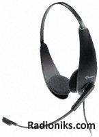 Professional binaural telephone headset