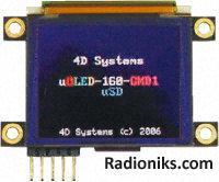 """OLED disp 1.7"""" 160x128 262k col serial"""