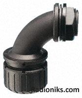 *R/a curved elbow for conduit,M20 21mm (1 Pack of 5)